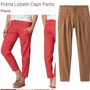 "PRANA ""LIZBETH"" Capri Pants Brown"